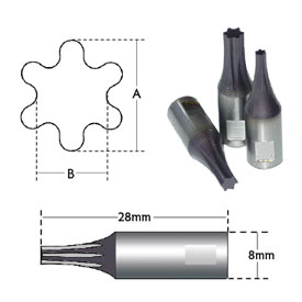 hexalobe, torx style broach tools provide the best results in cnc machining centers